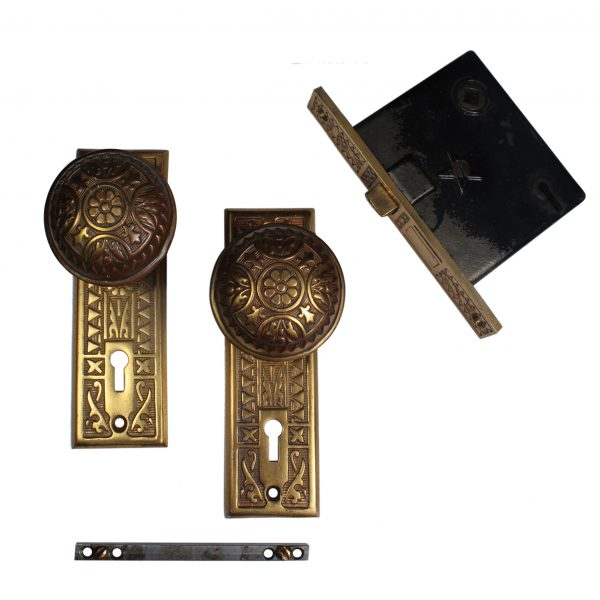 Antique Eastlake Brass Door Hardware Sets by Sargent-0