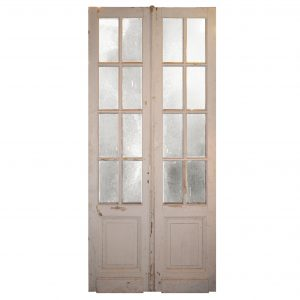 "Pair of Antique 43"" Double Doors with Glass-0"