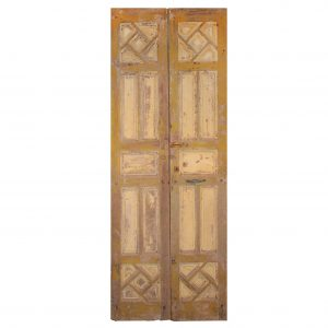 """Antique Pair of 39"""" Carved French Doors-0"""