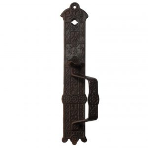 Antique Eastlake Cast Iron Door Pull / Handle, C. 1880's-0