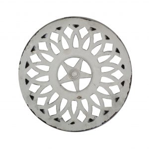 Antique Cast Iron Circular Eave Vent, Late 19th Century-0