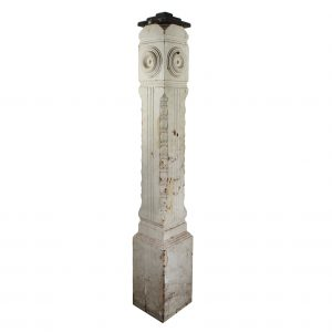 Salvaged Antique Newel Post, Late 19th Century-0