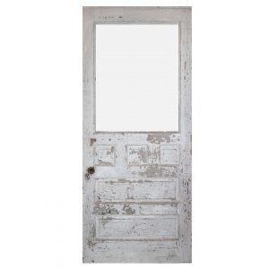 """Reclaimed 36"""" Antique Farmhouse Door with Glass-0"""
