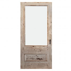 """Antique 38"""" Farmhouse Door with Glass-0"""