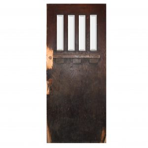 """Salvaged 36"""" Craftsman Entry Door with Beveled Glass-0"""