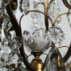 Antique Brass Neoclassical Chandelier with Prisms, c. 1910-71053