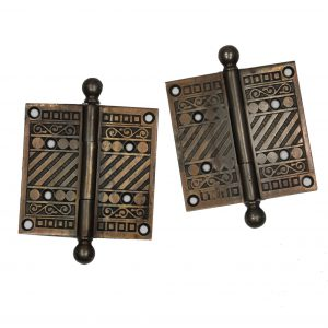 "Pairs of Antique Cast Iron 4"" Hinges, c. 1880's -0"