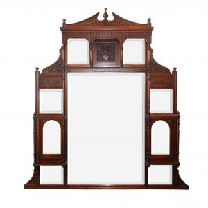 Antique Decorative Mirror, Mahogany -0