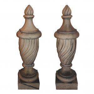 "Pair of Substantial ""Pot à Feu"" Terra Cotta Finials, Louisville -0"