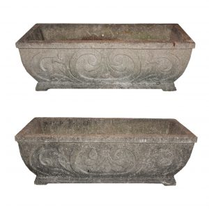 Pair of Antique Concrete Planters, c. 1920-0