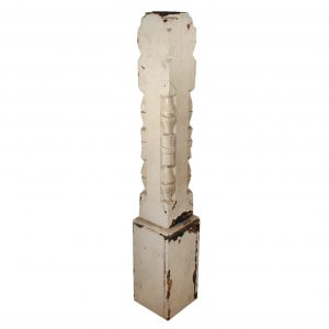 Salvaged Antique Newel Post, 19th Century-0