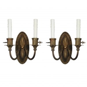 Pair of Antique Sconces in Bronze, E.F Caldwell-0