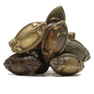 Antique Cast Bronze Oval Doorknob Sets-0