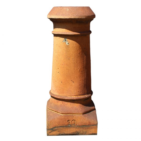 Antique Terra Cotta Chimney Pot, c. 1910-0