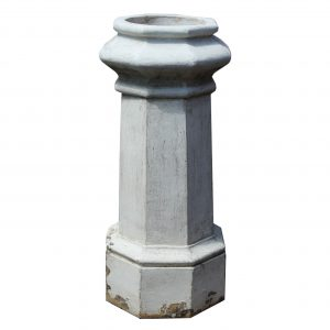 Reclaimed Octagonal Terra Cotta Chimney Pot, c. 1915-0