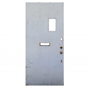 "Salvaged 36"" Exterior Plank Door with Window-0"