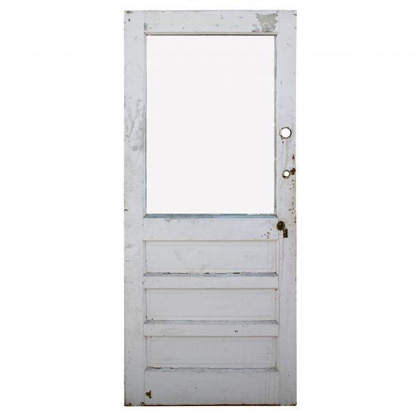 """Reclaimed 35"""" Antique Farmhouse Door with Glass-0"""