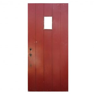 "Salvaged 35"" Exterior Plank Door with Window-0"