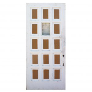 "Antique 36"" Multi-Panel Door with Window-0"