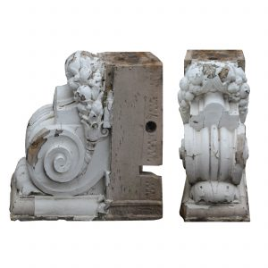 Large Matching Antique Terracotta Corbels-0
