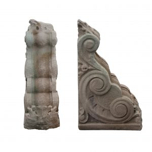 Substantial Pair of Antique Sandstone Corbels, Early 1900s-0
