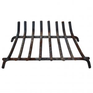 Antique Cast Iron Fireplace Basket-0