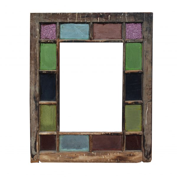 Reclaimed American Stained Glass Window, Late 19th Century-0