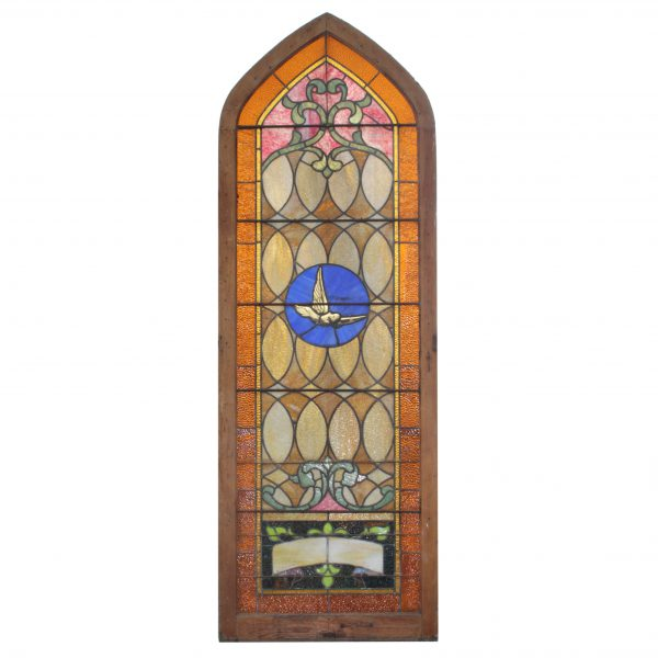Antique Figural American Stained Glass Window, Early 1900s-0