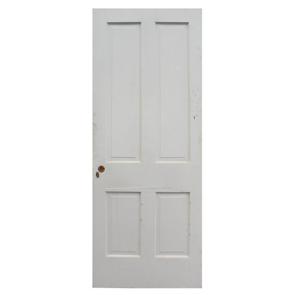 "Antique 32"" Four-Panel Solid Wood Door-0"