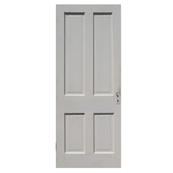 "Antique 31"" Four-Panel Solid Wood Door-0"