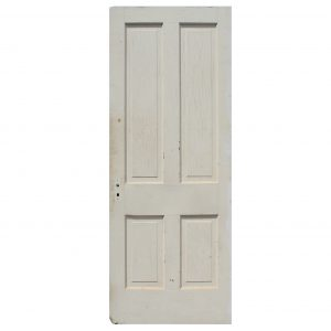 "Reclaimed 31"" Four-Panel Solid Wood Door-0"