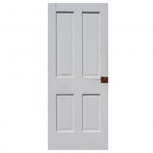 "Salvaged 30"" Four-Panel Solid Wood Door-0"