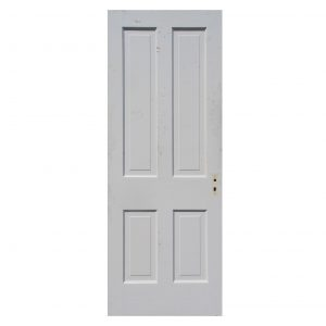 "Antique 30"" Four-Panel Solid Wood Door-0"