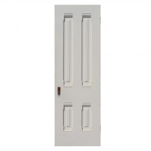 "Antique 24"" Four-Panel Solid Wood Door-0"