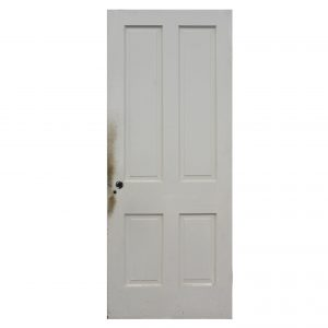 "Salvaged 32"" Four-Panel Solid Wood Door-0"