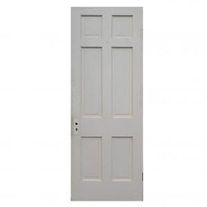 "Antique 30"" Six-Panel Solid Wood Door-0"