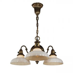 Antique Sheffield Chandelier with Original Shades-0